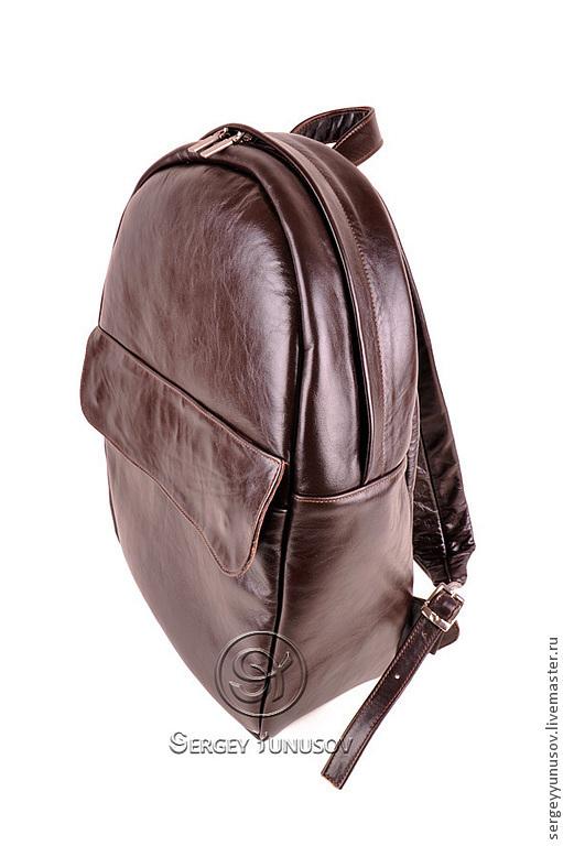 Рюкзаки ручной работы. Ярмарка Мастеров - ручная работа. Купить Рюкзак Medium. Handmade. Коричневый, яркая подкладка, натуральная кожа