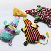Куклы и игрушки ручной работы. Ярмарка Мастеров - ручная работа Игрушка антистресс. Детская игрушка-грелка Мышка. Handmade.