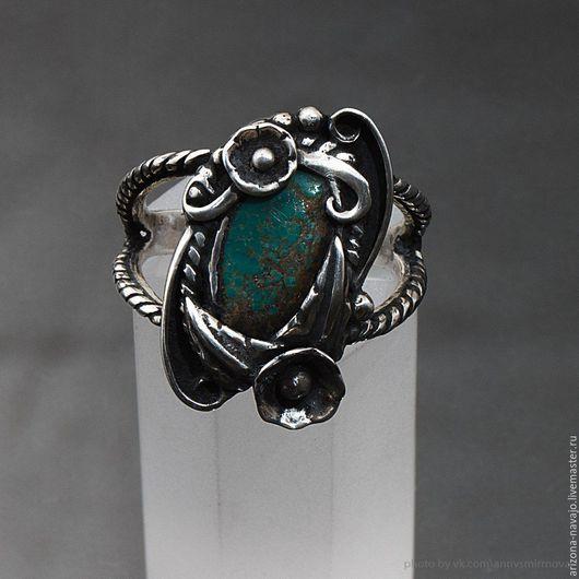Кольца ручной работы. Ярмарка Мастеров - ручная работа. Купить Серебряное кольцо. Handmade. Тёмно-бирюзовый, серебряные украшения