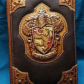 "Канцелярские товары handmade. Livemaster - original item Leather notebook ""GRYFFINDOR"". Handmade."