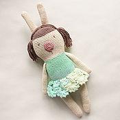 Куклы и игрушки ручной работы. Ярмарка Мастеров - ручная работа вязаный заяц. Handmade.