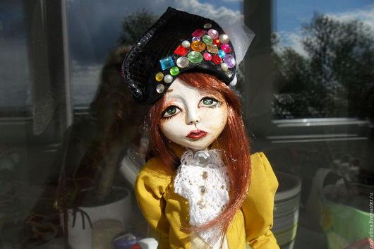 Коллекционные куклы ручной работы. Ярмарка Мастеров - ручная работа. Купить Мишель)). Handmade. Оливковый, кукла ручной работы, куколка