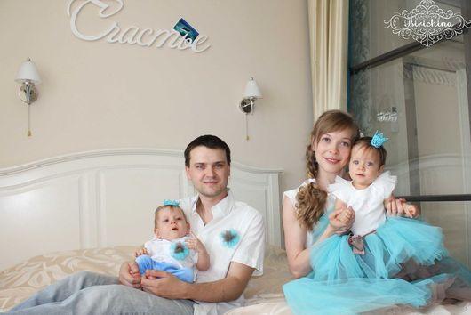 Одежда унисекс ручной работы. Ярмарка Мастеров - ручная работа. Купить Family look .... Юбочки для мамы и дочери... Handmade.