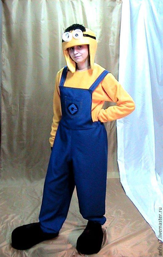 Карнавальные костюмы ручной работы. Ярмарка Мастеров - ручная работа. Купить Миньон-костюм для аниматора. Handmade. Желтый, синий цвет