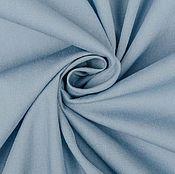 Материалы для творчества ручной работы. Ярмарка Мастеров - ручная работа Хлопок-поплин c эластаном MARNI  сизо-голубой. Handmade.