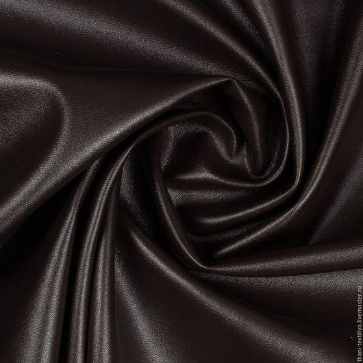 """Шитье ручной работы. Ярмарка Мастеров - ручная работа. Купить Кожа искусственная, цвет """"горький шоколад"""" , арт. 42/12. Handmade."""