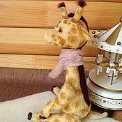 Тедди жираф,авторская интерьерная игрушка