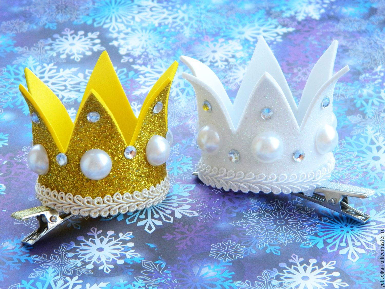 Корона для девочек своими руками из фоамирана и связанная крючком