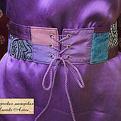 Аксессуары ручной работы. Ярмарка Мастеров - ручная работа Фиолетовые лоскутные пояса. Handmade.