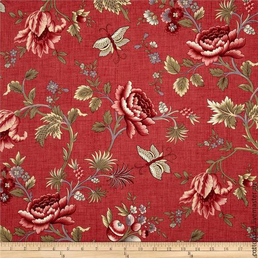 Ткань №3 - Арт.615 - Крупные Цветы. Ткань с розами.