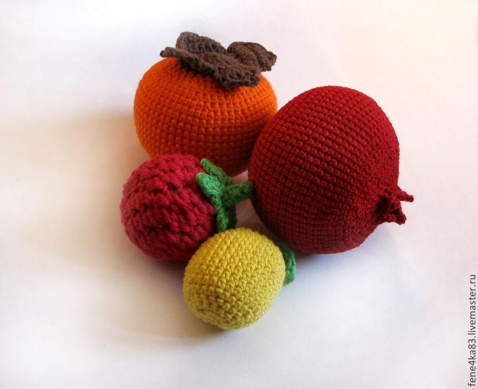 Вязаные фрукты.