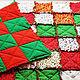 """Текстиль, ковры ручной работы. Лоскутный плед """"Новогодний"""". Annikki Patchworks. Ярмарка Мастеров. Лоскутное покрывало, одеяло пэчворк"""