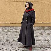 Одежда handmade. Livemaster - original item Demi-season long coat with a hood Deborah, wool. Handmade.