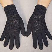 Аксессуары handmade. Livemaster - original item Black women`s gloves