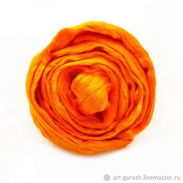 Волокна вискоза (Троицк) - оранжевый 0496, Волокна, Москва,  Фото №1