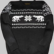 Одежда ручной работы. Ярмарка Мастеров - ручная работа Тату-свитер - Полярные медведи (вариант 1). Handmade.