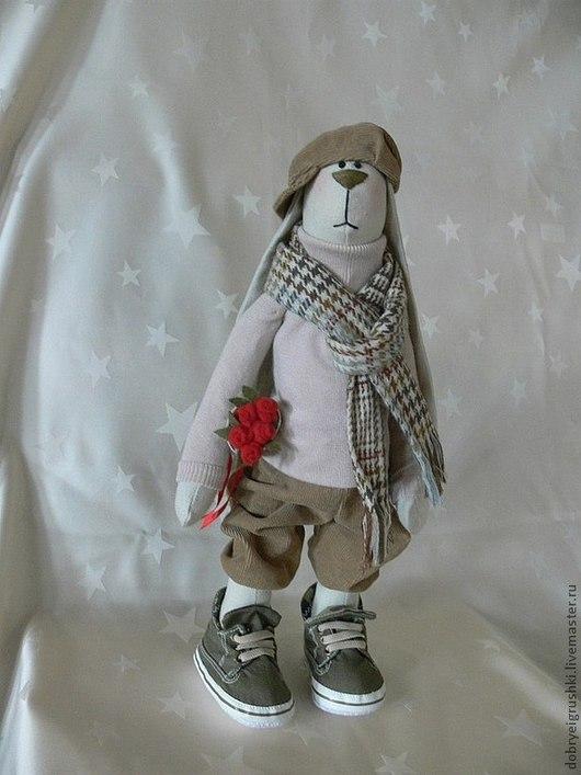Куклы Тильды ручной работы. Ярмарка Мастеров - ручная работа. Купить Заяц Кристиан. Handmade. Бежевый, заяц тильда