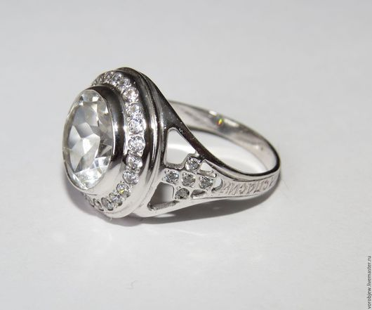 """Кольца ручной работы. Ярмарка Мастеров - ручная работа. Купить Женское охранное кольцо """"Спаси и Сохрани"""" горный хрусталь. Handmade."""