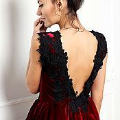 Одежда ручной работы. Ярмарка Мастеров - ручная работа Вечернее платье Marsala. Handmade.