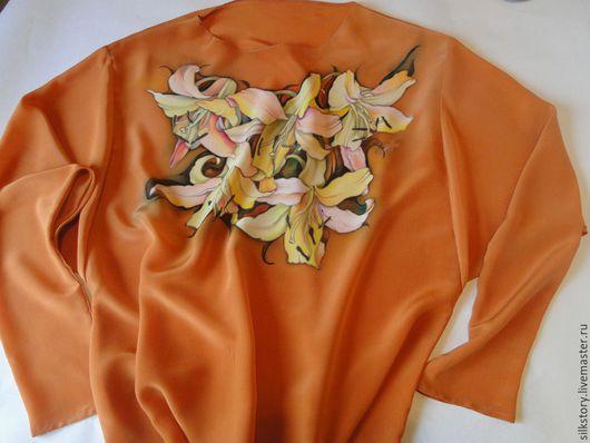 Блузки ручной работы. Ярмарка Мастеров - ручная работа. Купить блуза Осенние лилии. Handmade. Блузка женская, теплая гамма