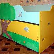 Для дома и интерьера ручной работы. Ярмарка Мастеров - ручная работа Двухъярусная выдвижная кровать. Handmade.