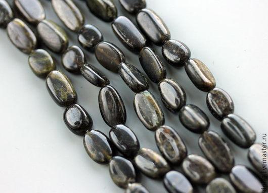 Для украшений ручной работы. Ярмарка Мастеров - ручная работа. Купить Зеленый турмалин овал нить (Код: бк411). Handmade.