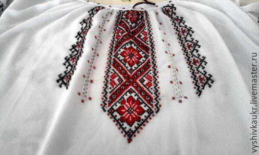 Блузки ручной работы. Ярмарка Мастеров - ручная работа. Купить Вышиванка на женщину 18. Handmade. Ярко-красный, вышивка, шерсть