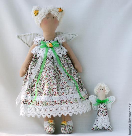 Куклы Тильды ручной работы. Ярмарка Мастеров - ручная работа. Купить Ангел с ангелочком кукла в стилеТильда. Handmade. Фея