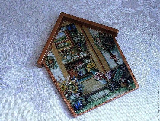 """Прихожая ручной работы. Ярмарка Мастеров - ручная работа. Купить Ключница""""Цветочный домик""""(варианты). Handmade. Ключница, домики"""