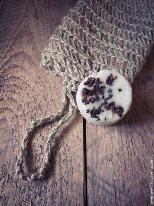 Ванная комната ручной работы. Ярмарка Мастеров - ручная работа. Купить Мочалка натуральная ручной работы из льна и джута. Handmade.