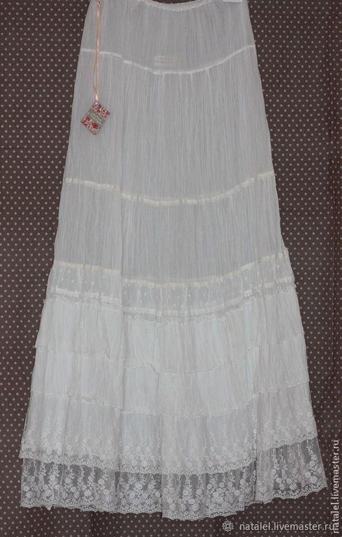 25da36ecebcfd49 Нижняя юбка в бохо стиле прованс винтаж, 2 ряда кружева – купить в ...