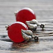 Украшения handmade. Livemaster - original item Silver earrings berries Cherries. Handmade.