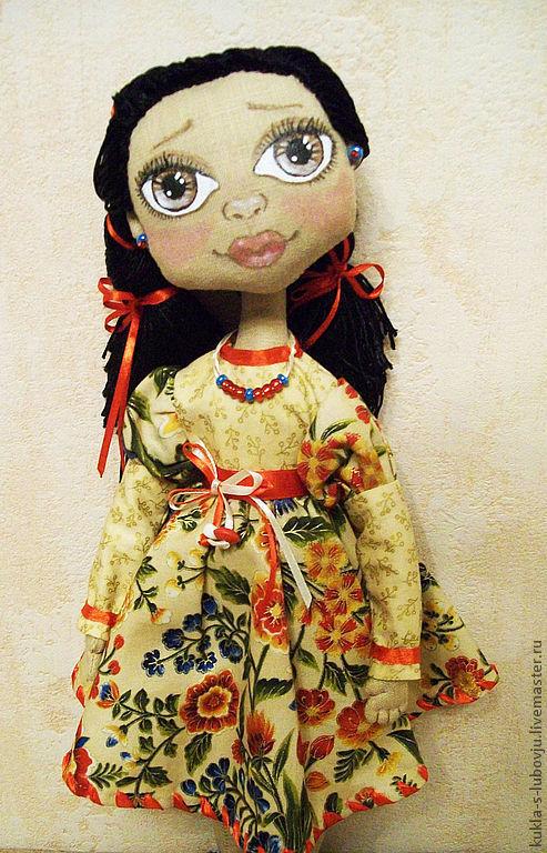 Коллекционные куклы ручной работы. Ярмарка Мастеров - ручная работа. Купить Кукла интерьерная Аксинья. Handmade. Кукла текстильная, в цветочек
