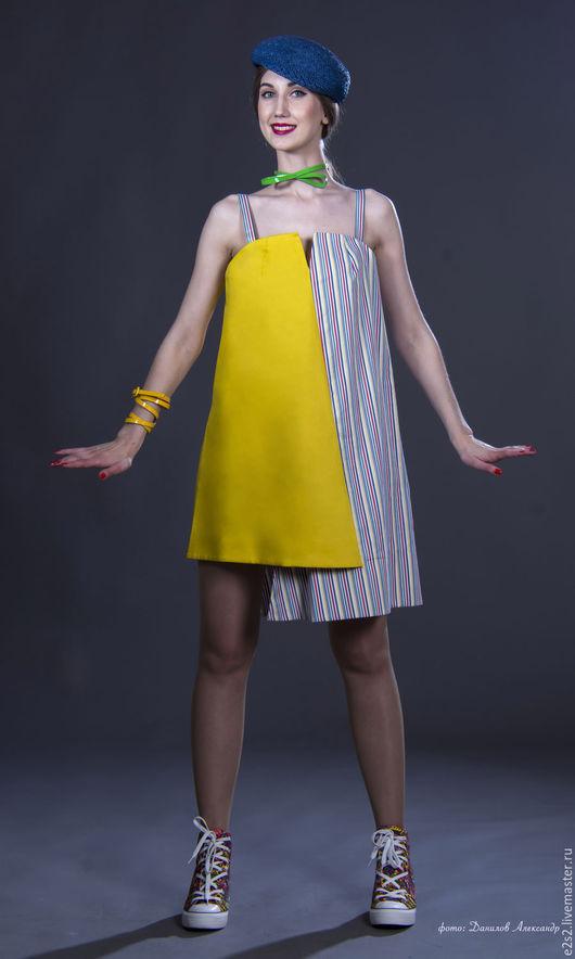 Платья ручной работы. Ярмарка Мастеров - ручная работа. Купить Платье-сарафан Теннис. Handmade. Желтый, платье для отдыха