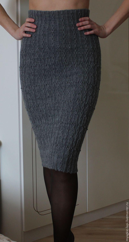 Вязанная юбка карандаш спицами схема описание