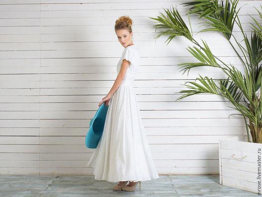 """Платья ручной работы. Ярмарка Мастеров - ручная работа. Купить Платье из белой мережки """"Карнавальная ночь"""". Handmade. Белый"""