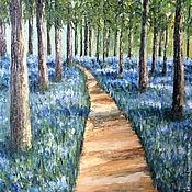 Картины и панно ручной работы. Ярмарка Мастеров - ручная работа Картина Цветущий лес холст масло. Handmade.