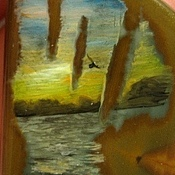 """Украшения ручной работы. Ярмарка Мастеров - ручная работа Кулон """"Морской закат"""". Handmade."""