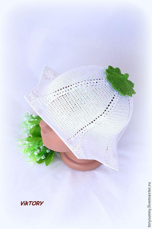 """Шапки и шарфы ручной работы. Ярмарка Мастеров - ручная работа. Купить Шляпка """"Ландыш"""".. Handmade. Белый, шляпка с цветами"""