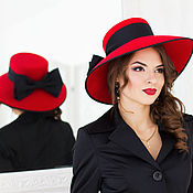 Аксессуары handmade. Livemaster - original item Stranger. Hat for the races. Handmade.