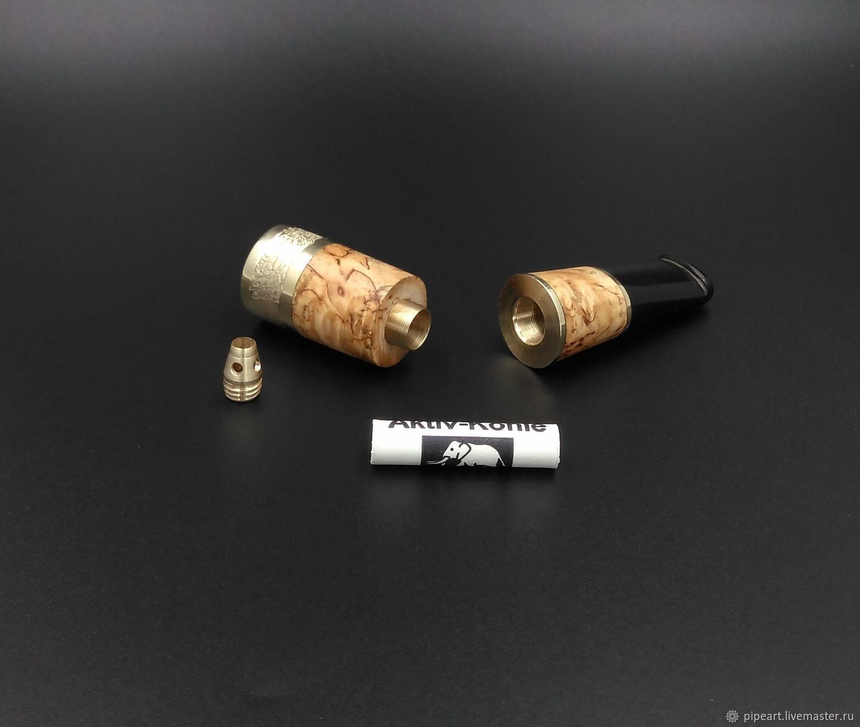 Cigar mouthpiece 1-117 Karelian birch, Cigarette holder, Moscow,  Фото №1