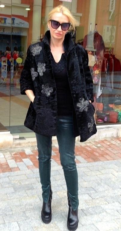 Верхняя одежда ручной работы. Ярмарка Мастеров - ручная работа. Купить свакара Prada Style. Handmade. Черный, свакара