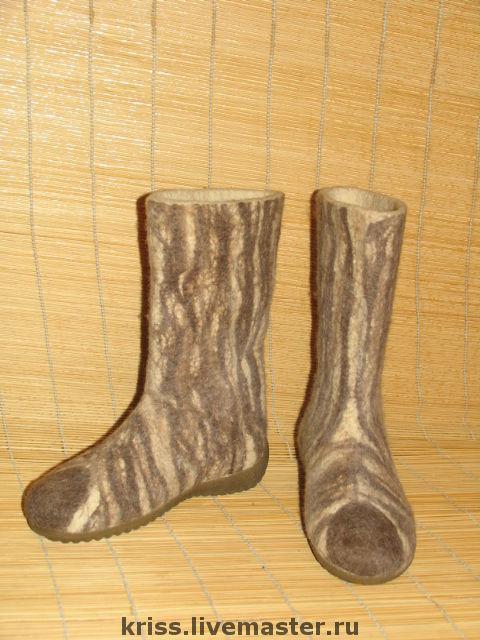 Обувь ручной работы. Ярмарка Мастеров - ручная работа. Купить валенки Носатые-полосатые. Handmade. Зимняя обувь, валяная обувь