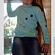 Одежда для девочек, ручной работы. Голубой вязаный свитер для девочки Незабудка. Вязание  Лоскутное шитье Пэчворк (Svetlana-Svet). Ярмарка Мастеров.