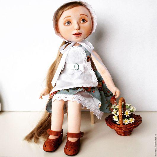 Коллекционные куклы ручной работы. Ярмарка Мастеров - ручная работа. Купить Цветочница. Handmade. Комбинированный, кукла, скульптурный текстиль, трикотаж