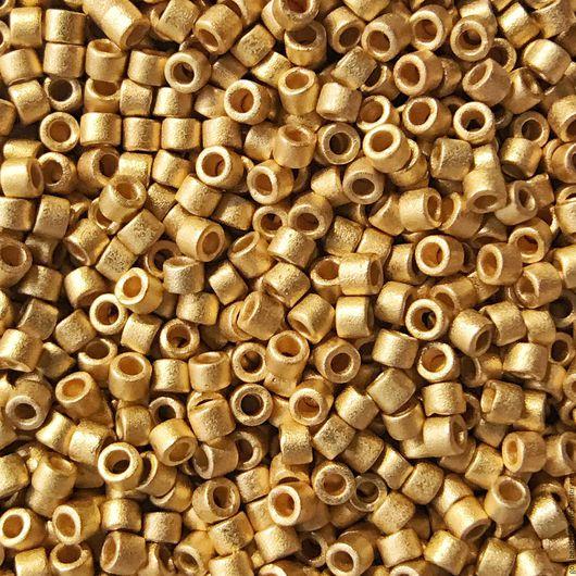 Для украшений ручной работы. Ярмарка Мастеров - ручная работа. Купить MIYUKI DELICA 11/0 331 opaque 24Kt gold-finished matte. Handmade.