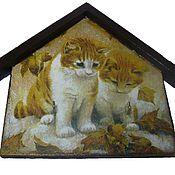 Для дома и интерьера ручной работы. Ярмарка Мастеров - ручная работа Ключница,вешалка для полотенец Рыжие котята. Handmade.