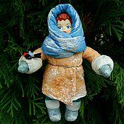 Куклы и игрушки ручной работы. Ярмарка Мастеров - ручная работа Ватная игрушка на елку. Handmade.
