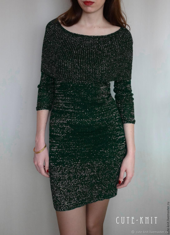 """Зеленое платье вязаное с люрексом """"Золотое сияние"""", Dresses, Yerevan,  Фото №1"""