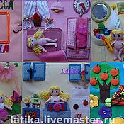 """Куклы и игрушки ручной работы. Ярмарка Мастеров - ручная работа Развивающая книжка """"Жизнь принцессы """" (авторская). Handmade."""